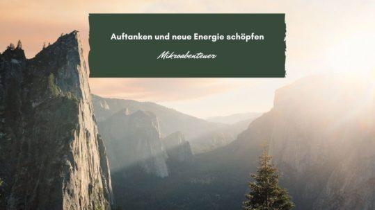 Auftanken und neue Energie schöpfen